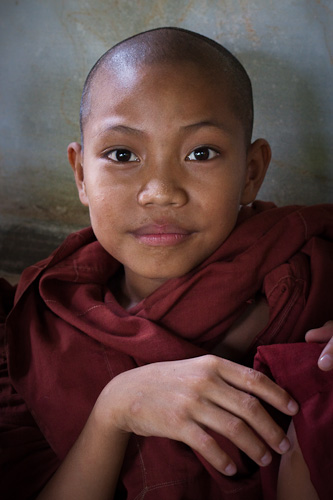Serene young monk