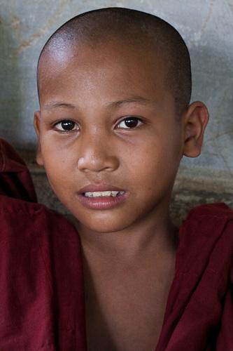 Young monk Burma