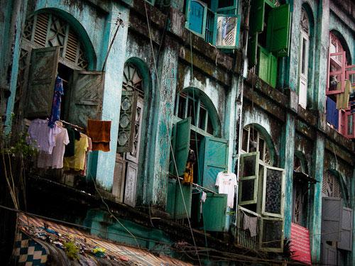 Colourful streets Yangon