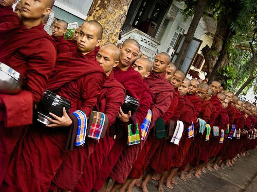 Early morning monastery rituals