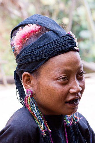 Young hilltribe girl Kentung Burma