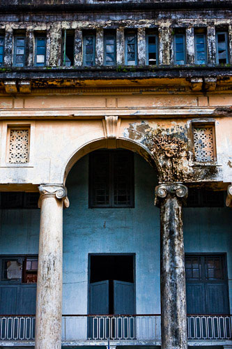 Faded colonial building Yangon