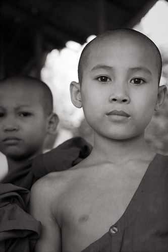 Two novice Burmese monks