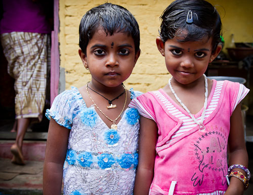 Photogenic young Indian village girls