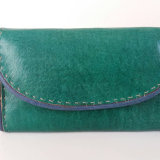 Turquoise Leather Purse by Zouré Seydou