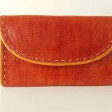 Warm Brown Leather Purse by Zouré Seydou