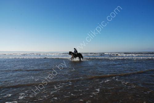 Westward Ho! Riding on the beach.