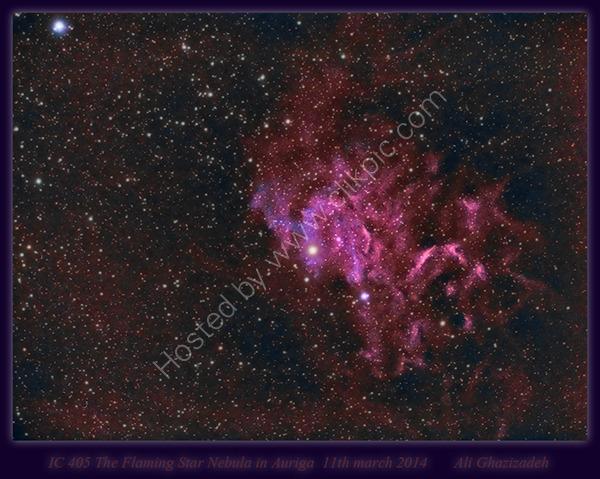 IC 405 the Flaming Star Nebula in Auriga