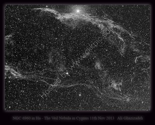 NGC 6960 , The Veil Nebula in Cygnus 11/11/2013