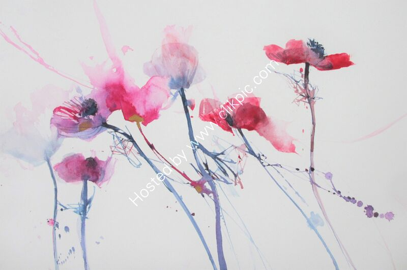 Anemones in the Air     unframed 55cm x 35  £195 inc p&p UK only