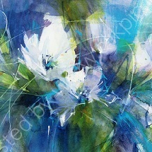 """White Overtures greeting card 6""""x6"""""""