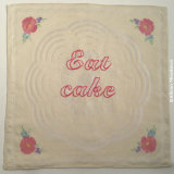 Table napkin: eat cake