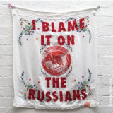 Repurposed tablecloth: I blame it on the Russians