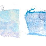 Blue chiffon & muslin
