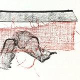 Red linen, muslin, ribbon