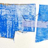 Linen, needlepoint canvas, thread