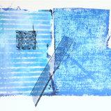 Striped cotton, needlepoint, ribbon