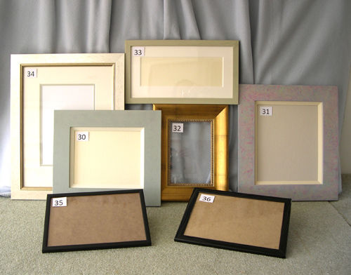 FIVE FRAMES AND TWO DOCUMENT FRAMES