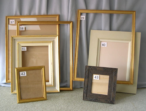 FIVE FRAMES AND TWO PHOTO FRAMES