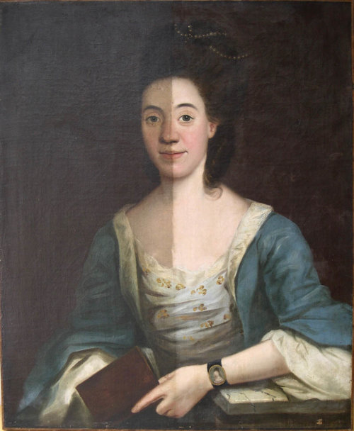 An Unsigned  Late Eighteenth Century Portrait of a Lady.