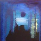 Nocturne: Drama, 2014, acrylic on linen, 60cm x 60cm