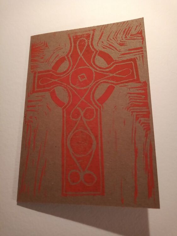 Celtic Cross (Red), kraft card 240 gsm