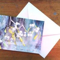 Mistletoe greetings card
