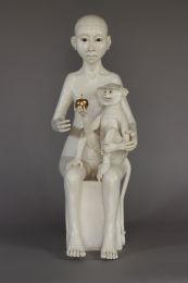 Monkey and child
