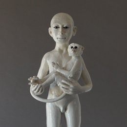 Standing Monkey & Child