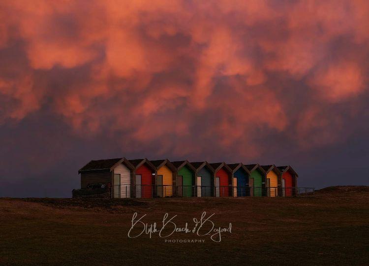 Mammatus Clouds Sunset at the Beach Huts