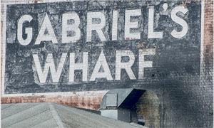 GABRIEL'S WHARF SIGN