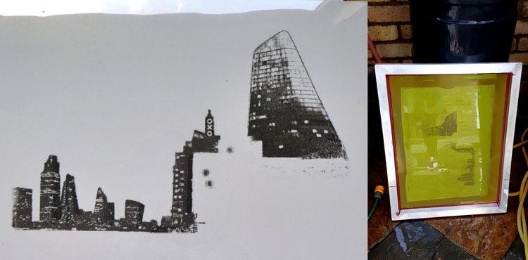 Tower stencil
