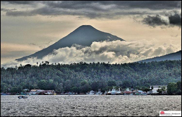 Volcano on Lembeh Island Indonesia