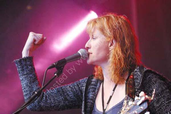 Eddie Reader performing at Burn n' a that festival in Ayr, Ayrshire