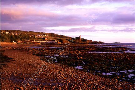 Evening sun on coastline at Dunure