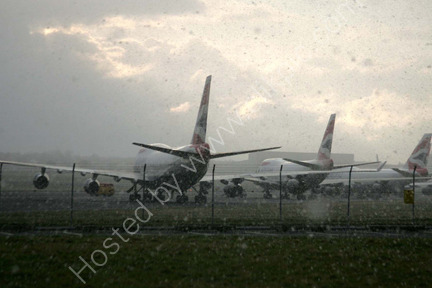 011311Diverted British Airways planes at Prestwick as a result of heavy snow