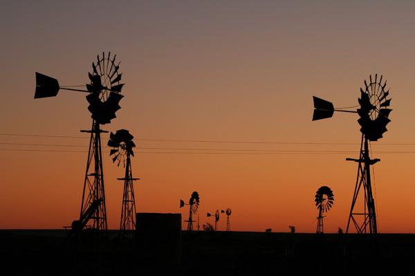 Windmill Sillouhette