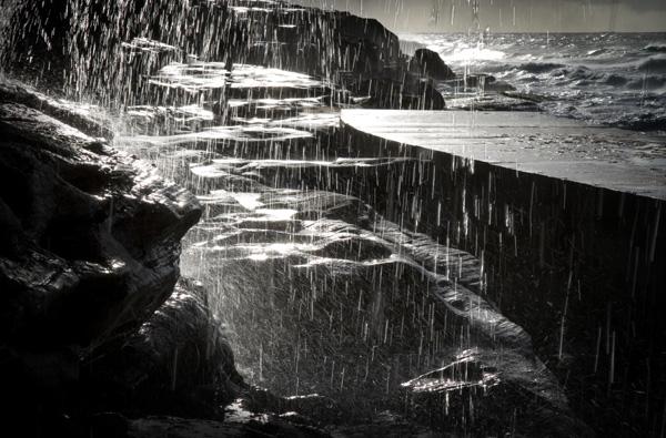 Bronte Beach during a rain storm