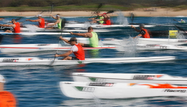The start of the Dee Why Ocean Series Race