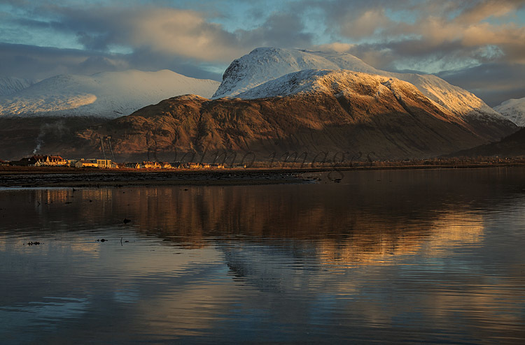 Ben Nevis and Caol from the shores of Loch Linnhe