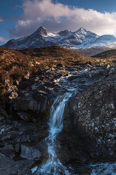 Sligachan Waterfalls and The Cuillins, Isle of Skye