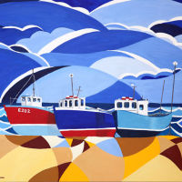 'Fishing Boats at Beer' SOLD