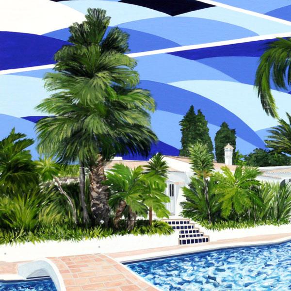 'Quinta da Luz' close-up of the painting