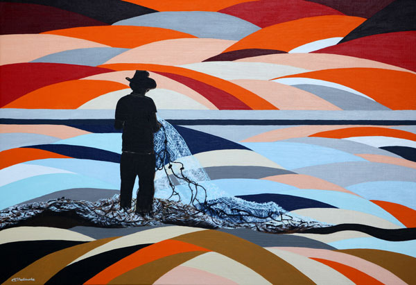 'Sunset Fisherman' SOLD