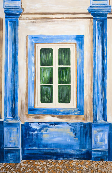 'The Old Blue Window - Lagos' SOLD