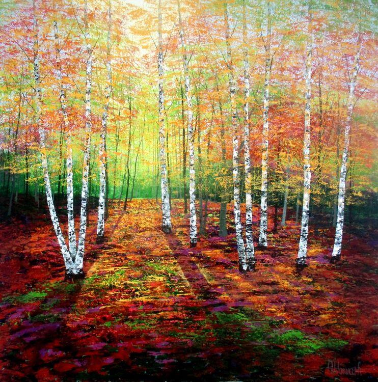 Autumn Golden Birches