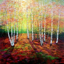 Autumn Golden Birches