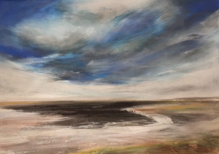 Blustery day, Holkham bay SOLD