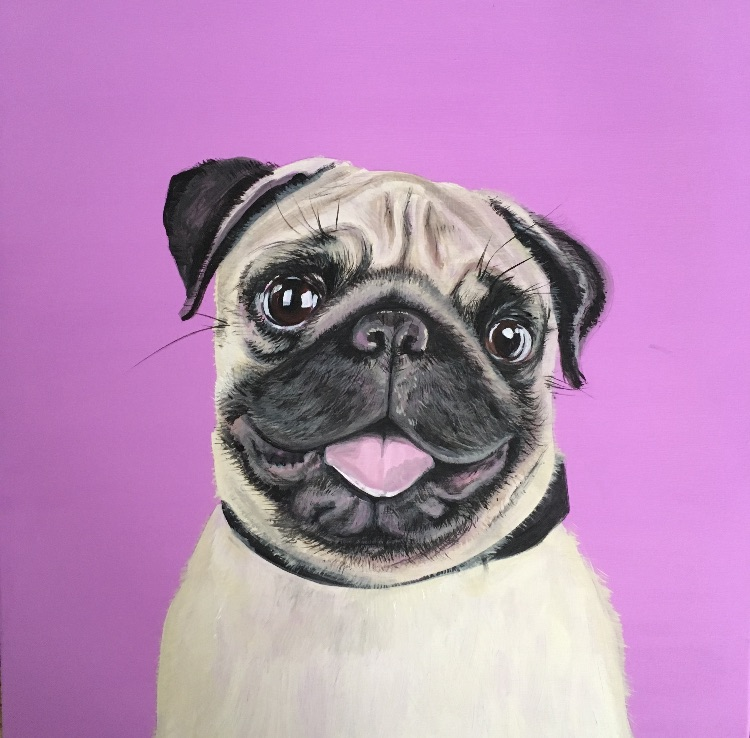 Pink pug SOLD