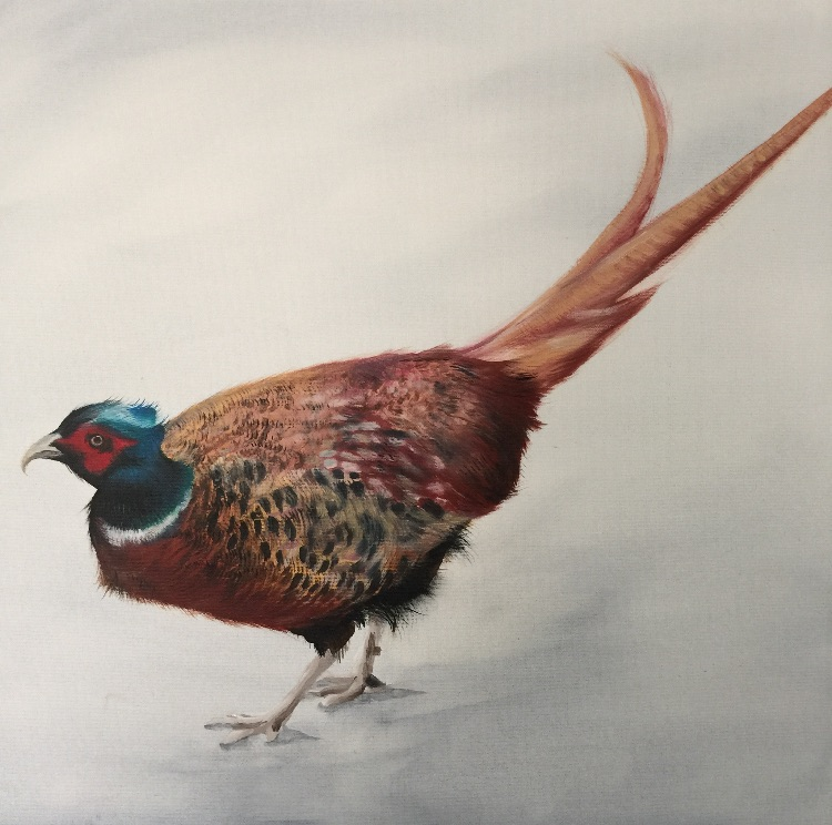 Pheasant in the snow SOLD